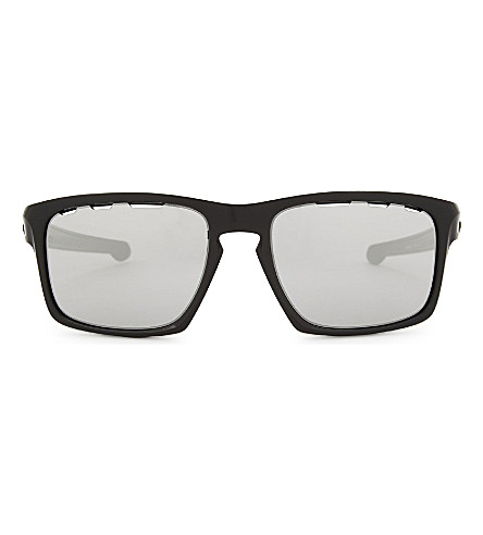 OAKLEY OO9262 Sliver Vented rectangle-frame sunglasses (Black