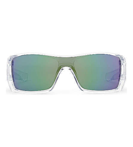 OAKLEY OO9101 Batwolf rectangle-frame sunglasses (Clear