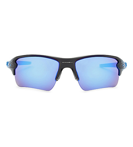OAKLEY Flak 2.0 Prizm oo9188 rectangle-frame sunglasses (Blue