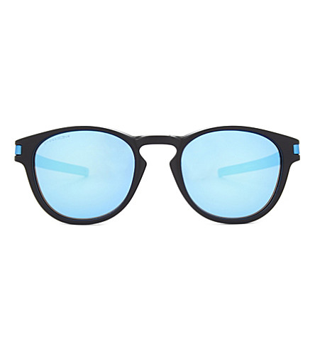 OAKLEY Oo9265 Latch round-frame sunglasses (Matte+black