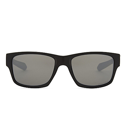OAKLEY OO9135 Jupiter Squared rectangle-frame sunglasses (Polished+black
