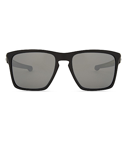 OAKLEY OO9341 XL rectangle-frame sunglasses (Matte+black