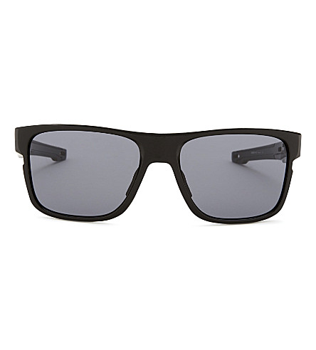 OAKLEY OO9361 Crossrange square-frame sunglasses (Polished+black