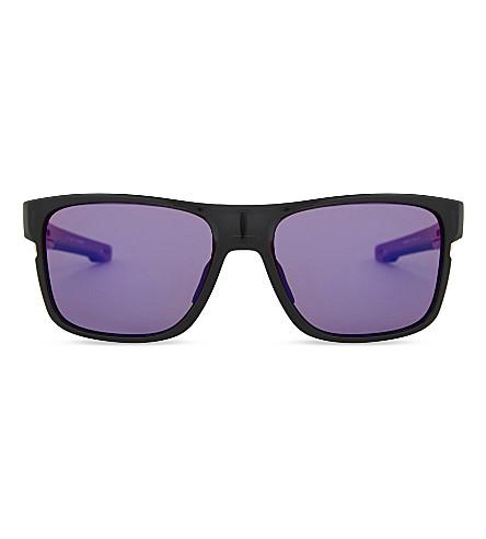 OAKLEY Oo9361 57 Crossrange square-frame sunglasses (Black+ink