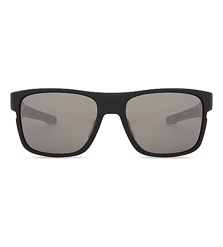 OAKLEY Crossrange Prizm square-frame sunglasses (Matte+black