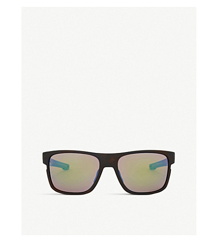 OAKLEY Crossrange Prizm Shallow Water polarised square-frame sunglasses (Matte+tortoise