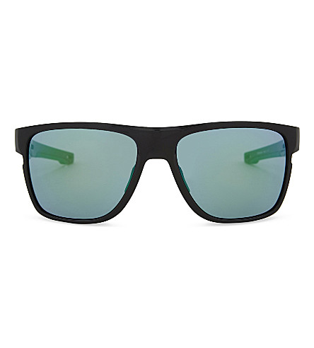 OAKLEY Crossrange XL PRIZM square-frame sunglasses (Polished+black