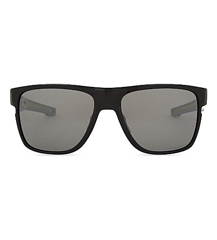 OAKLEY OO9360 square-frame sunglasses (Polished+black