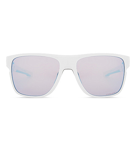 OAKLEY Crossrange XL PRIZM Snow square-frame sunglasses (Polished+white