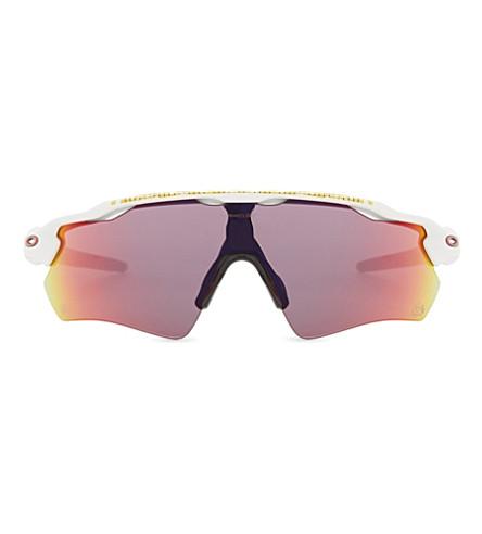 OAKLEY Oo9208 Radar EV Path PRIZM Road rectangle-frame sunglasses (Matte white