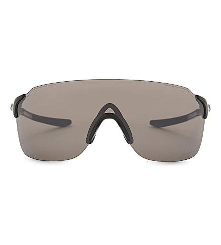 OAKLEY Oo9386 rectangle-frame sunglasses (Polished+black