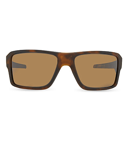 OAKLEY Oo9380 Double Edge square-frame sunglasses (Matte+brown