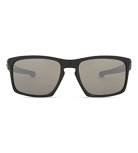 OAKLEY Oo9262 Sliver rectangle sunglasses (Polished+black