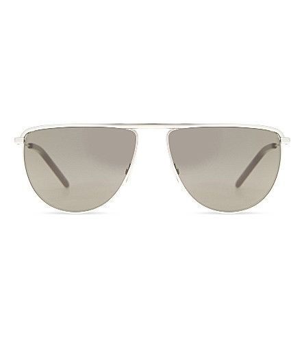 SAINT LAURENT Sl96 aviator sunglasses (Silver