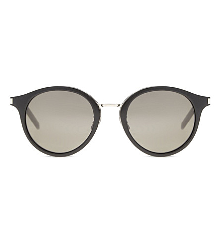 SAINT LAURENT Sl57 round-frame sunglasses (Black