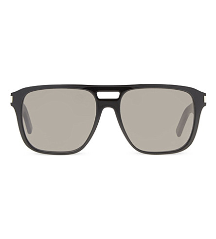 SAINT LAURENT Sl87 rectangle-frame sunglasses (Black