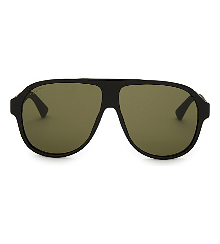 GUCCI Gg0009s aviator sunglasses (Black