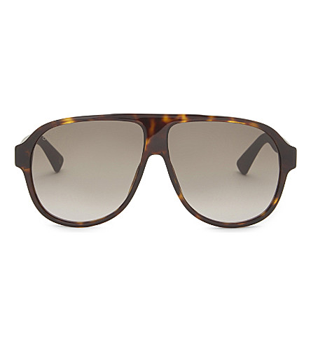 GUCCI Gg009s aviator sunglasses (Tortoise