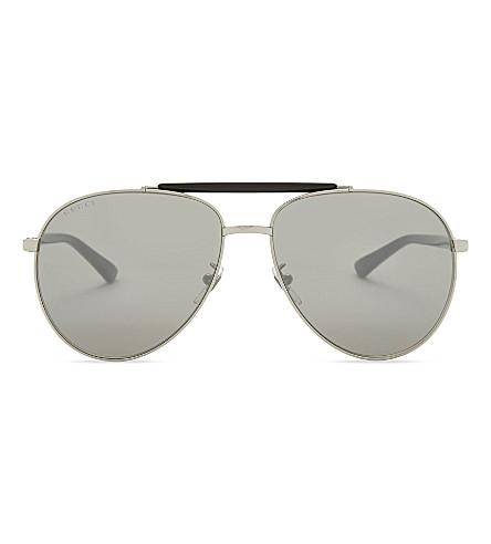 GUCCI Gg0014s aviator sunglasses (Gunmetal