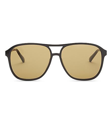 GUCCI Gg0016s square-frame sunglasses (Black