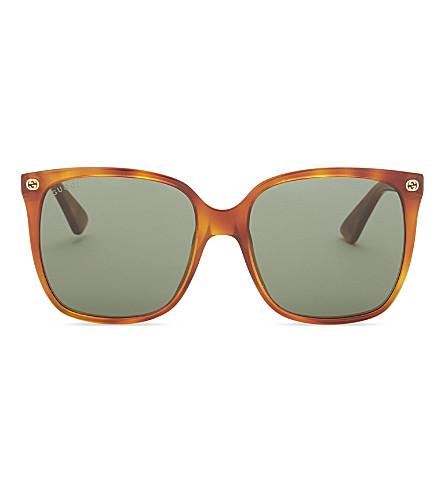 GUCCI Gg0022s square-frame sunglasses (Tortoise