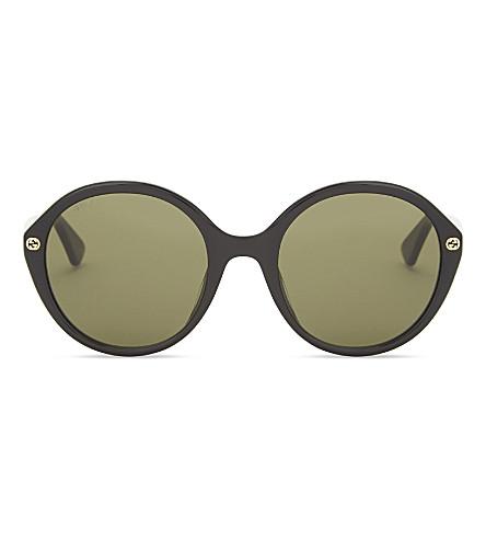 GUCCI Gg0023s round-frame sunglasses (Black