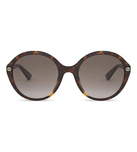 GUCCI GG0023S round-frame sunglasses (Tortoise