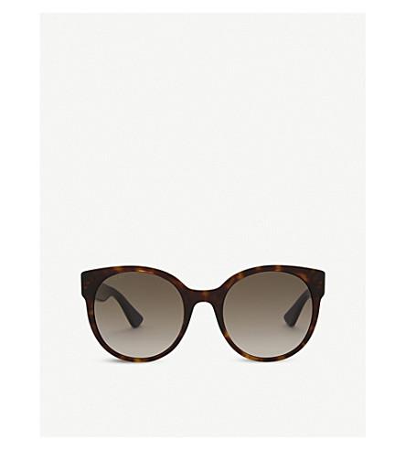 GUCCI Gg0035s round-frame sunglasses (Tortoise
