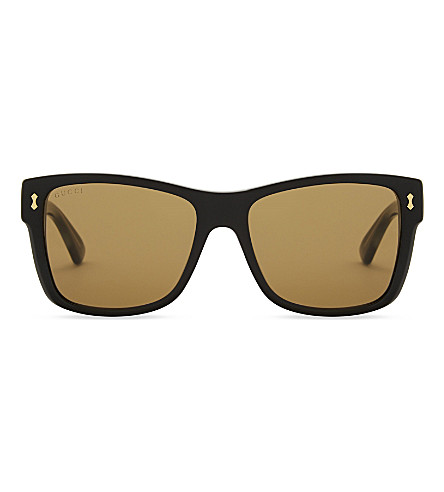 GUCCI Gg0052s square-frame sunglasses (Black