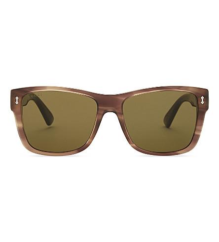 GUCCI Gg0052s square-frame sunglasses (Tortoise