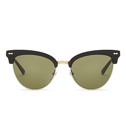 GUCCI Gg0055s cat-eye sunglasses (Black