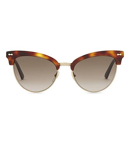 GUCCI Gg0055s cat-eye sunglasses (Tortoise