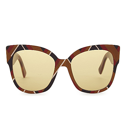 GUCCI Gg0059 square-frame sunglasses (Multicolored