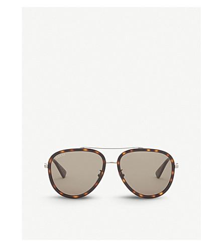 GUCCI Gg0062s aviator sunglasses (Gunmetal