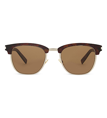 SAINT LAURENT Sl108 square-frame sunglasses (Tortoise