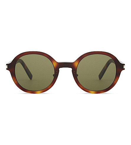 SAINT LAURENT Sl161 round-frame sunglasses (Tortoise