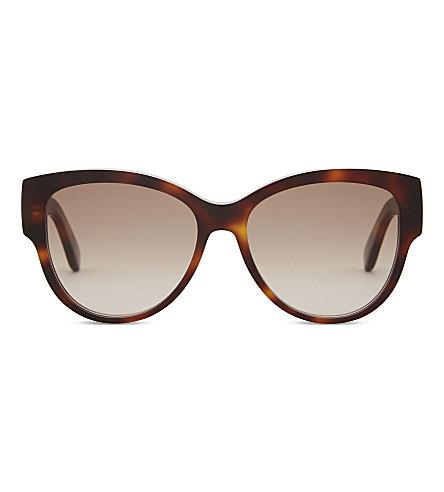SAINT LAURENT M3 tortoiseshell oval-frame sunglasses (Tortoise