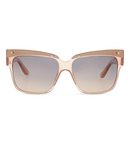 MARC JACOBS MMJ423 Square-frame sunglasses (Pink+white