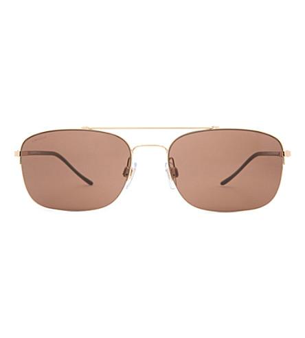 GIORGIO ARMANI Timeless Elegance D-frame sunglasses (Brown