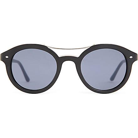 GIORGIO ARMANI Frames of Life round-frame sunglasses (Black