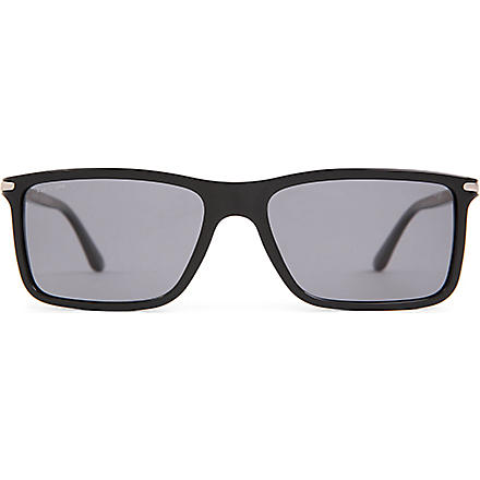 GIORGIO ARMANI Frames of Life slim square-frame sunglasses (Black