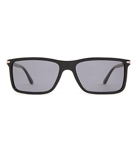 GIORGIO ARMANI Frames of Life slim square-frame sunglasses (Black