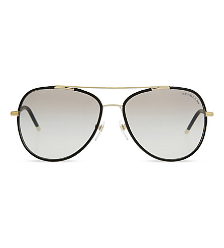 BURBERRY B3078J aviator sunglasses (Matte+black