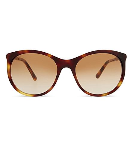 BURBERRY B4145 round-frame sunglasses (Havana