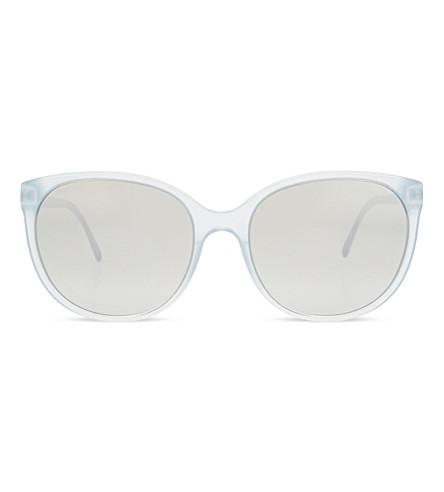 BURBERRY B4146 round-frame sunglasses (Azure