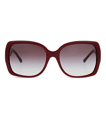 BURBERRY B4160 square-frame sunglasses (Bordeaux