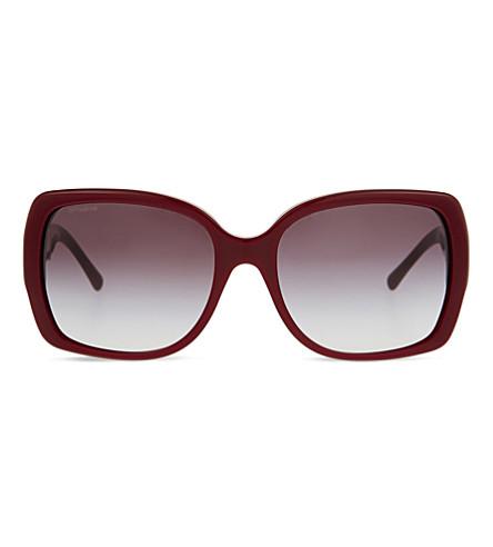 BURBERRY B4160 square-frame sunglasses (Bordeaux