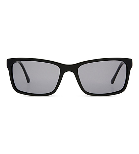 BURBERRY B4162 rectangle-frame sunglasses (Black