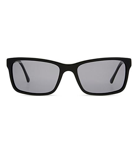 BURBERRY B4162 rectangle-frame sunglasses (Black