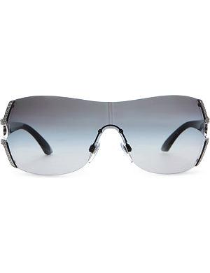 BVLGARI Swarovski crystal wrap around sunglasses